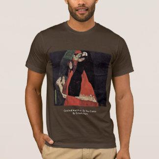 Cardinal et nonne, ou la caresse par Schiele Egon T-shirt