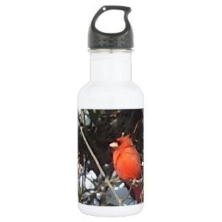 Cardinal rouge dans l'art de photo d'arbres chargé
