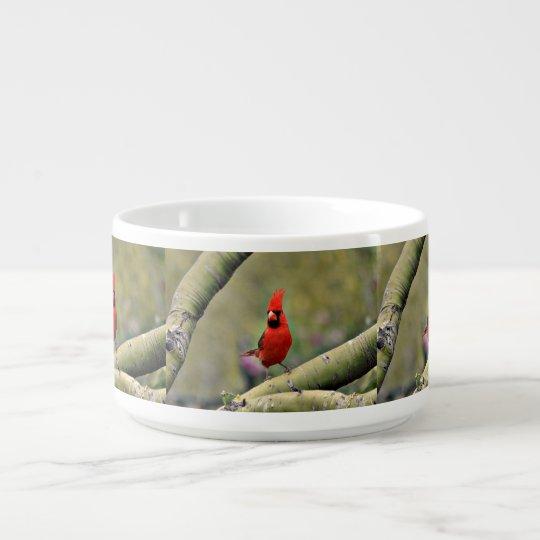 """Cardinal"" sur un bol de piment de membre Bol À Chili"