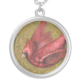 Cardinal vintage pendentif rond