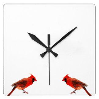 Cardinaux Horloge Carrée