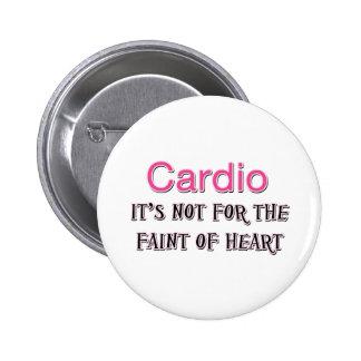 Cardio- énonciation drôle badge avec épingle