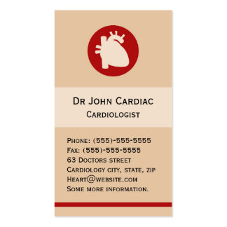 Cardiologie ou carte de visite de chirurgien cardi