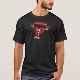 Cardiologie saine de symbole de conscience d'homme t-shirt