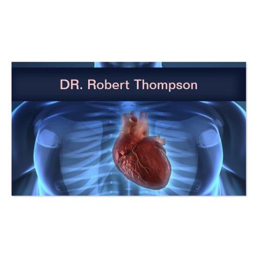 Cardiologue/cardiologie/carte de Cardiosurgeons Carte De Visite