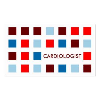CARDIOLOGUE (carrés de mod) Carte De Visite Standard