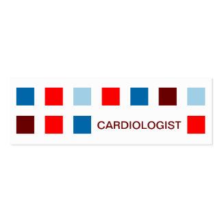 CARDIOLOGUE (carrés de mod) Carte De Visite Petit Format