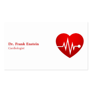 Cardiologue Carte De Visite Standard