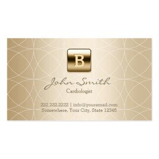 Cardiologue de luxe de monogramme d'or carte de visite standard