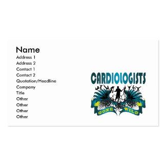 Cardiologues fous cartes de visite professionnelles