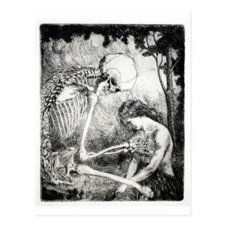 Caresse de carte postale de la mort