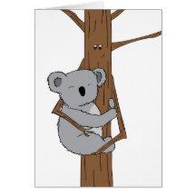 Caresse de koala carte de vœux