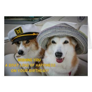 Cargaison de carte d'anniversaire de corgi de