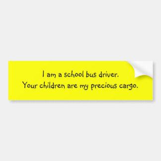 Cargaison précieuse de chauffeur de bus autocollant de voiture