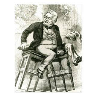 Caricature d'Adolphe Thiers entre deux Carte Postale