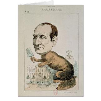 Caricature de baron Georges Eugene Haussmann Carte De Vœux