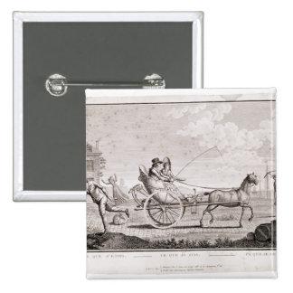 Caricature de la richesse de Nouveaux, c.1795 Badge