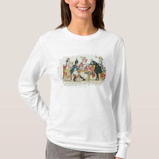 Caricature des échecs de jeu de Louis XVI T-shirt