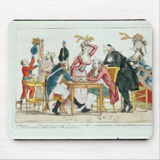 Caricature des échecs de jeu de Louis XVI Tapis De Souris