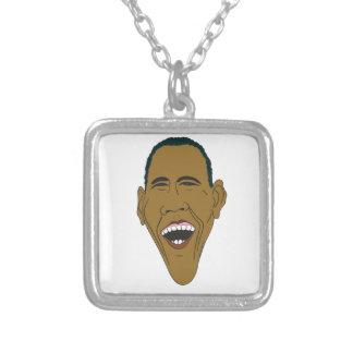 Caricature d'Obama Pendentif Carré