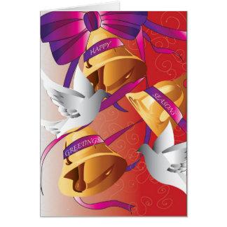 Carillon saisonnier carte de vœux