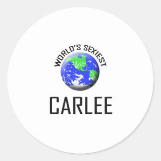 Carlee le plus sexy du monde sticker rond
