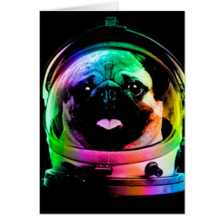 Carlin d'astronaute - carlin de galaxie - l'espace cartes
