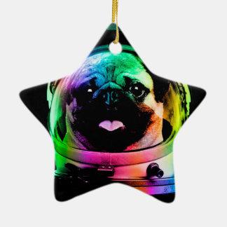Carlin d'astronaute - carlin de galaxie - l'espace ornement étoile en céramique