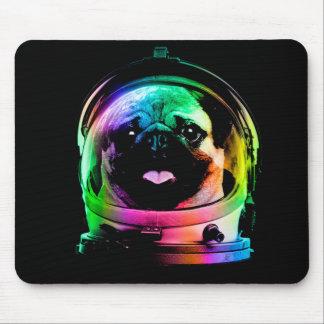 Carlin d'astronaute - carlin de galaxie - l'espace tapis de souris