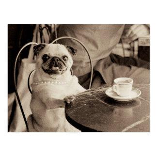Carlin de café carte postale