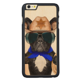 carlin de cowboy - cowboy de chien coque carved® en érable pour iPhone 6 plus case