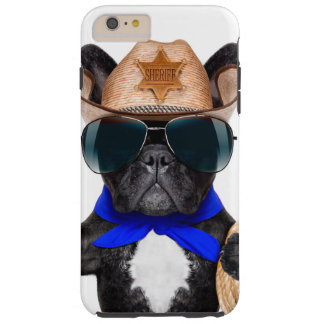 carlin de cowboy - cowboy de chien coque tough iPhone 6 plus