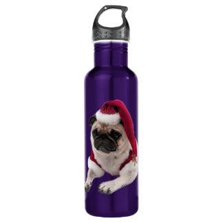 Carlin de Noël - chien du père noël - poursuivez Bouteille D'eau