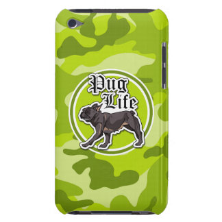 Carlin drôle camo vert clair camouflage coques iPod touch
