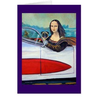 Carlin et Mona Lisa dans des cartes de Corvette