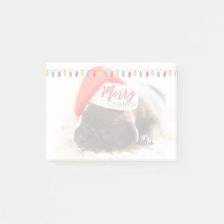 Carlin mignon de chiot dans Noël rouge de Post-it®