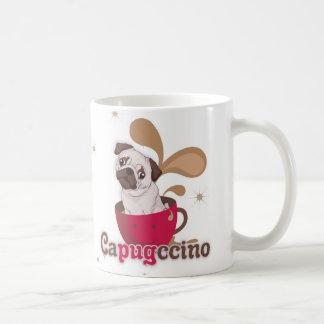 Carlin sur une tasse, une tasse de capugccino
