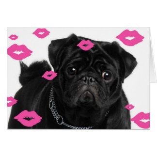 Carlins roses et baisers cartes