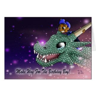 Carlos et la carte d'anniversaire de dragon