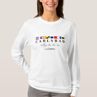 Carlsbad CA - village par la mer T-shirt