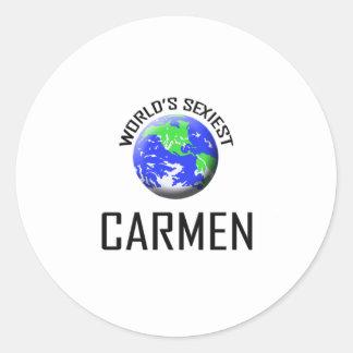 Carmen le plus sexy du monde sticker rond