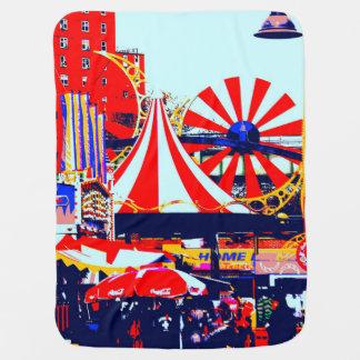 Carnaval chez Coney Island Couvertures Pour Bébé