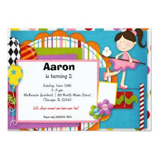 Carnaval d'anniversaire carton d'invitation  12,7 cm x 17,78 cm