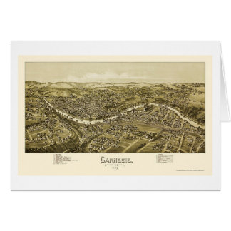 Carnegie, carte panoramique de PA - 1897