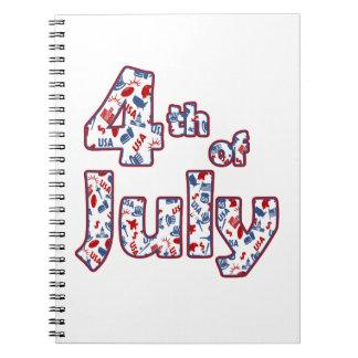 Carnet 4 juillet Jour de la Déclaration d'Indépendance