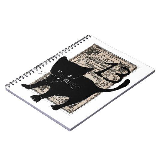 Carnet à spirale Chat noir et 13