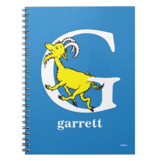 Carnet ABC de Dr. Seuss's : Lettre G - Le blanc |