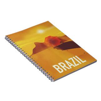 Carnet Affiche de voyage du Brésil