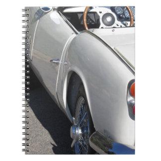 Carnet Aile gauche d'une vieille voiture classique