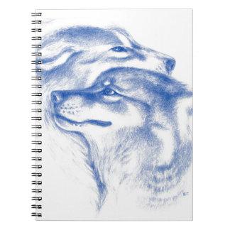 Carnet Alpha art d'amour de loups